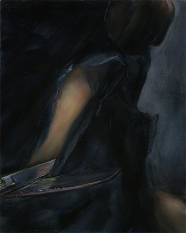 Cut Piece No. 1, 2006, oil on linen, 10 x 8 inches