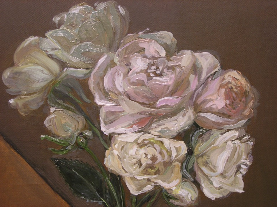 Close Up White Roses, Jen Mazza, 2010