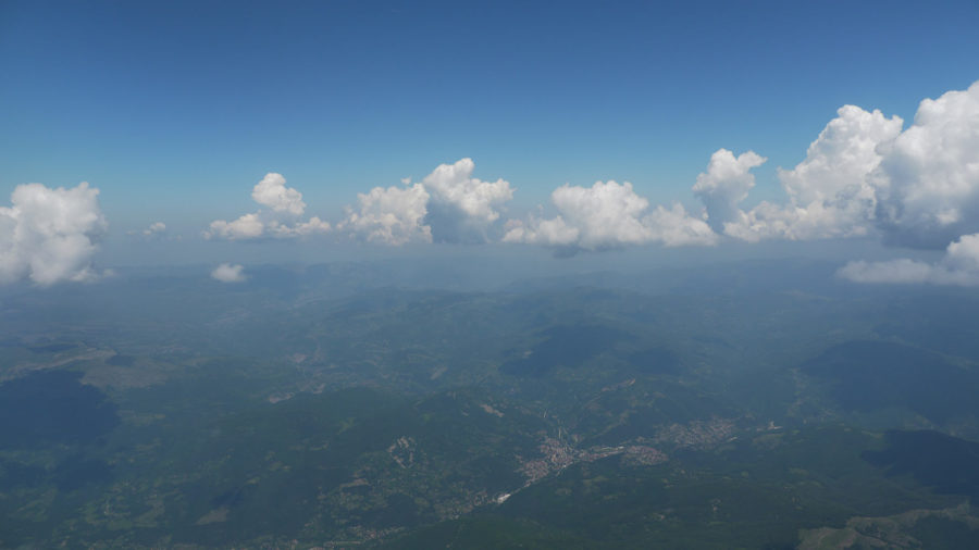 over the Balkan Mountains
