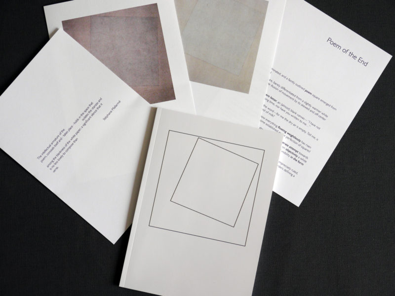 10 White Lies and Poem of the End: proof pages and printed and bound